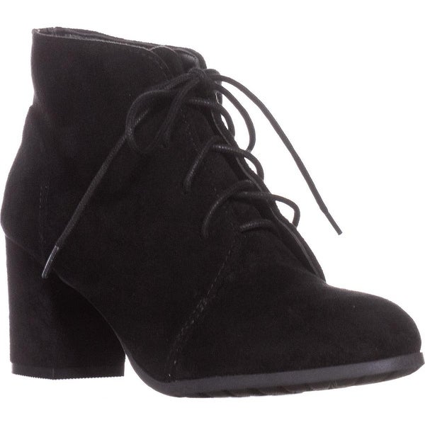 madden girl Torch Lace-Up Ankle Boots, Black