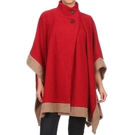 Womens Short Fleece Poncho