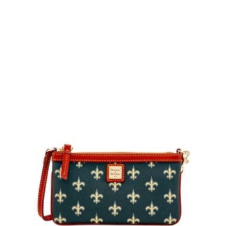 Dooney & Bourke NFL Saints Large Slim Wristlet (Introduced by Dooney & Bourke at $88 in Aug 2016)|https://ak1.ostkcdn.com/images/products/is/images/direct/7159c5bb5a01457f46149a53854fdebc42edc21b/Dooney-%26-Bourke-NFL-Saints-Large-Slim-Wristlet-%28Introduced-by-Dooney-%26-Bourke-at-%2488-in-Aug-2016%29.jpg?impolicy=medium