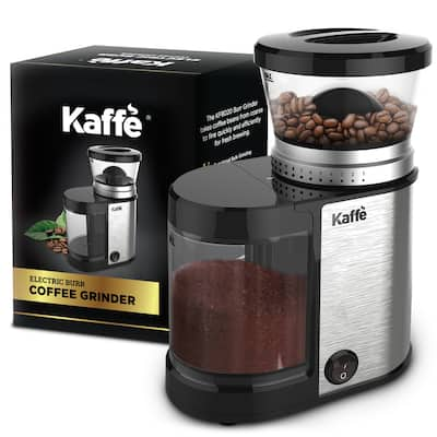 KF8020 Electric Burr Coffee Grinder by Kaffe - Stainless Steel - 4oz