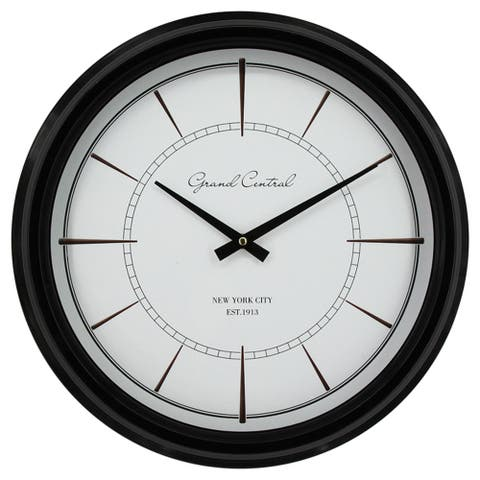 Yosemite Home Decor Less is More Contemporary Wall Clock - 16.5 x 16.5 x 3.1