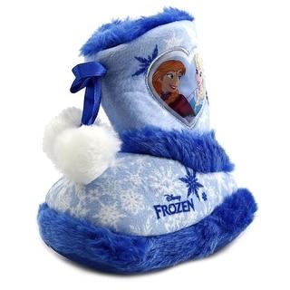 Disney Anna & Elsa Hightop Slippers Toddler Round Toe Synthetic Blue Slipper