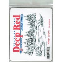 Deep Red Stamps Winter Stream Rubber Cling Stamp - 4.1 x 2.1