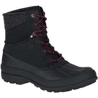 Sperry Top-Sider Men's Cold Bay Sport Duck Boot with Vibram Arctic Grip Black Leather