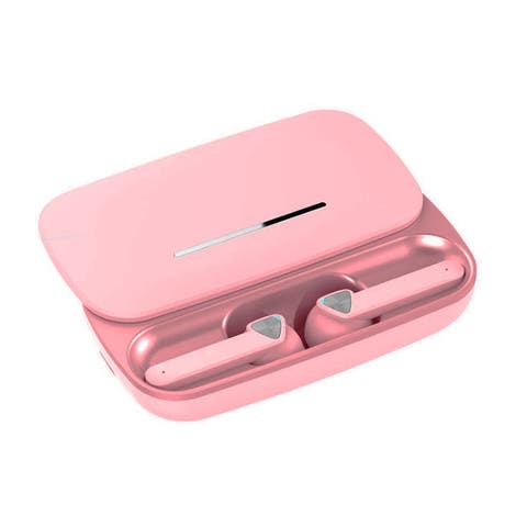 BE36 Universal Wireless EarBud Headphone by Indigi® - HD Binuaral Stereo & Mic w/ Case (Pink)