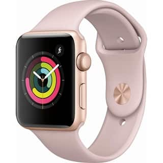 Apple Watch Series 3 (GPS), 42mm Gold Aluminum Case with Pink Sand Sport Band - Gold Aluminum|https://ak1.ostkcdn.com/images/products/is/images/direct/715c81f148e68cfb094ecbf7da987eb563e35f1e/Apple-Watch-Series-3-%28GPS%29%2C-42mm-Gold-Aluminum-Case-with-Pink-Sand-Sport-Band---Gold-Aluminum.jpg?impolicy=medium
