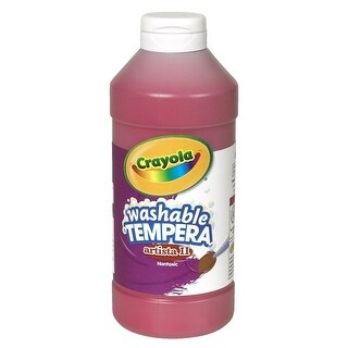 Crayola Artista II Non-Toxic Washable Tempera Paint, 1 pt Squeeze Bottle, Red