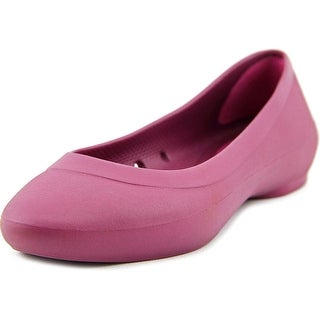 Crocs Lina Flat Women Round Toe Synthetic Purple Flats