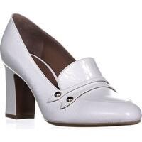Tabitha Simmons Maxwell Slip On Loafer Heels, White - 8 us / 38 eu