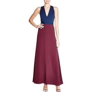 Jill Stuart Womens Evening Dress Colorblock Sleeveless