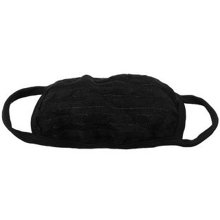 Unique Bargains Solid Black Anti Dust Winter Ears Warmer Ear Loop Face Mask
