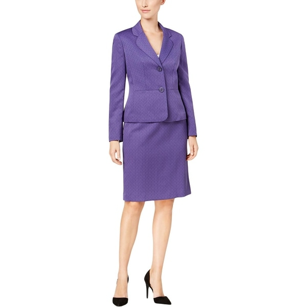 2c036d6301ed0 Shop Le Suit Womens Skirt Suit Jacquard Textured - 4 - Free Shipping Today  - Overstock - 27286617