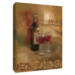 """PTM Images 9-154530  PTM Canvas Collection 10"""" x 8"""" - """"Old World Wine I"""" Giclee Wine Art Print on Canvas"""