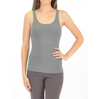Bamboo Camisole With Shelf Bra in Charcoal