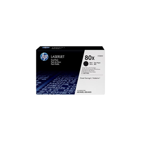 HP 80X Black Original LaserJet Toner Dual Cartridge (CF280XD)(Single Pack)