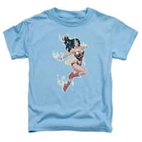 Jla-Simple Wonder Short Sleeve Toddler Tee, Carolina Blue - Larg