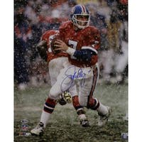 John Elway Autographed Denver Broncos 16x20 Photo Snow BAS