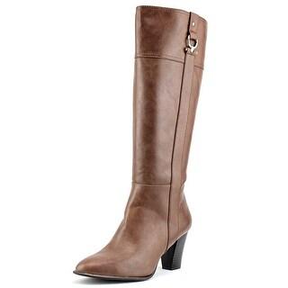 Alfani Courtnee   Pointed Toe Leather  Knee High Boot