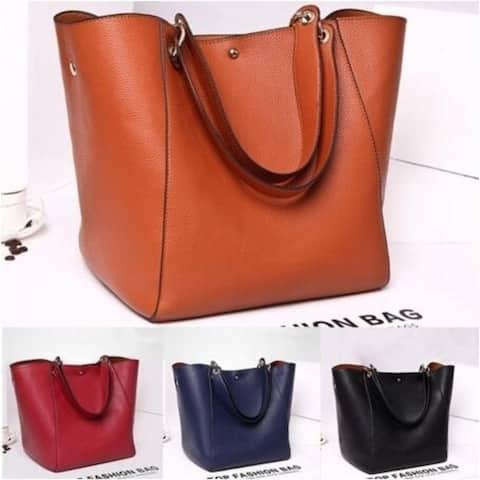 Women Tote Leather Handbag Shoulder Messenger Bag - M