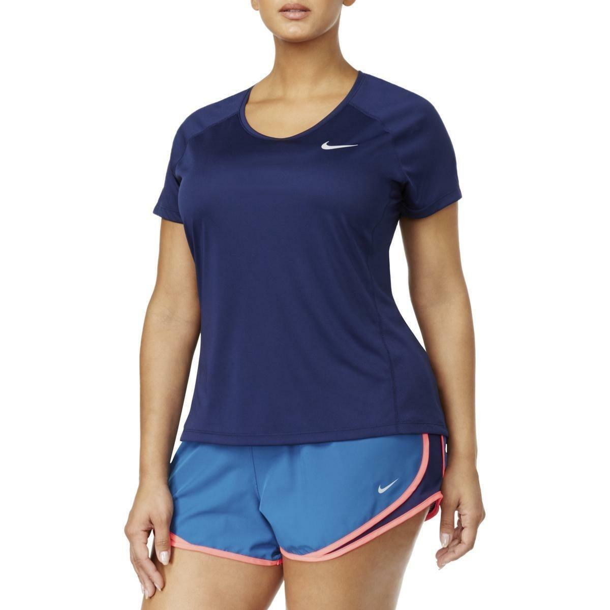 Nike Dry Miler short sleeve running top adult S blue
