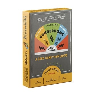 Punderdome: A Card Game for Pun Lovers Deluxe Edition - 20 Extra Cards & More - Multicolor