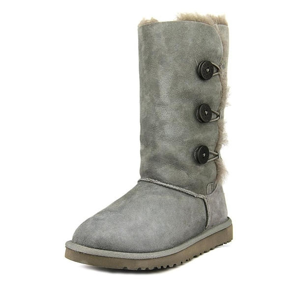 Ugg Australia Bailey Button Triplet Round Toe Suede Winter Boot