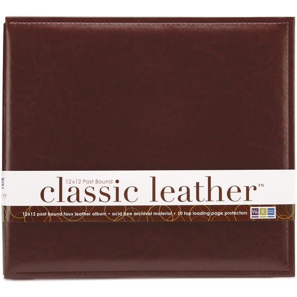"We R Classic Leather Post Bound Album 12""X12""-Cinnamon"