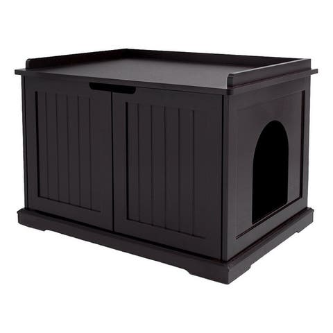Unipaws Cat Washroom Bench, Easy Assembly Litter Box Cover