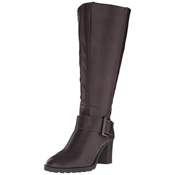 LifeStride Womens Sasha Riding Boots Wide Calf Faux Leather