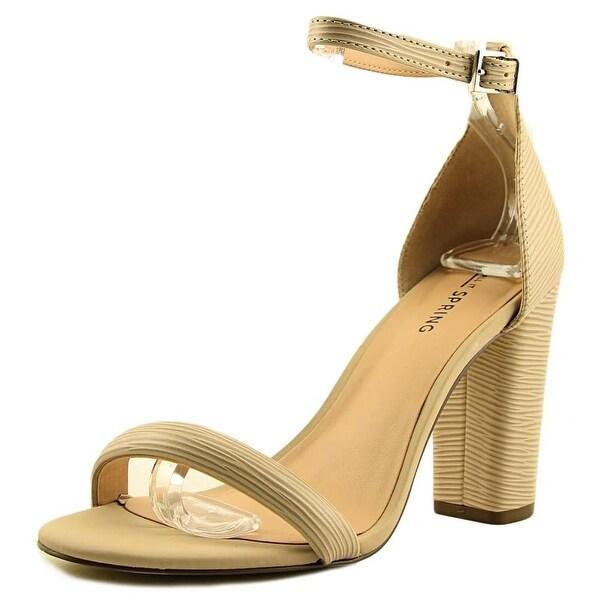 Call It Spring Brelawien Women Open Toe Synthetic Nude Sandals