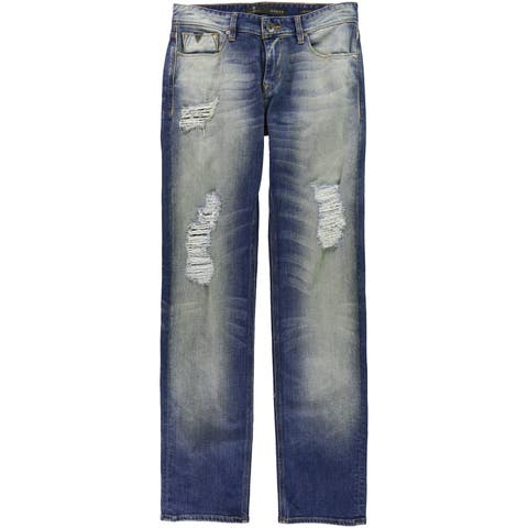 Guess Mens Attention Distressed Straight Leg Jeans - 30W x 34L