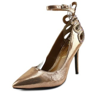 J. Renee Ellusion Women Pointed Toe Synthetic Gold Heels