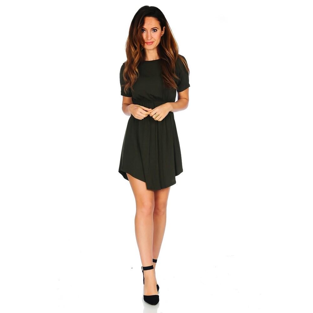 Simply Ravishing Womens Jersey Short Sleeve Blouson Dress (Size: S-3X)