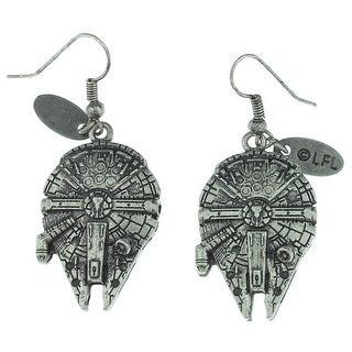 Star Wars Millennium Falcon 3D Dangle Earrings