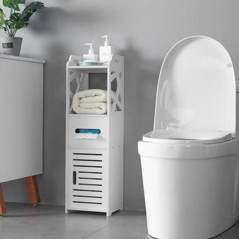 3-tier Bathroom Floor Cabinet Free-Standing Side Storage Organizer