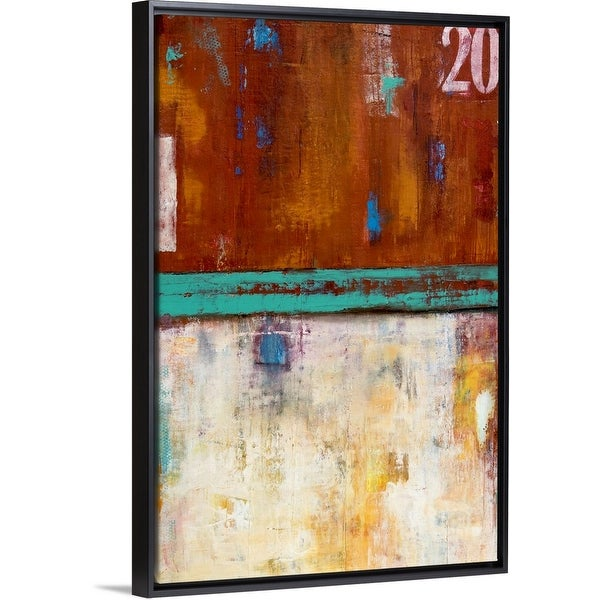 """Rock Side 20"" Black Float Frame Canvas Art"