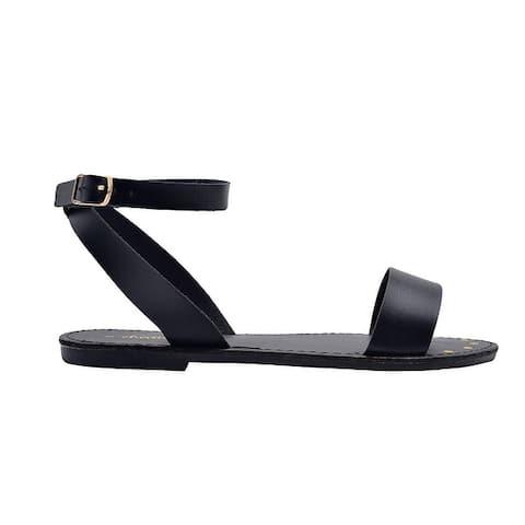 Chatties Ladies Fashion Sandals Pu Slingback Ankle Strap Flats