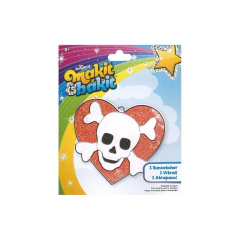 Colorbok Makit & Bakit Suncatcher Kit Skull Heart - White - Medium