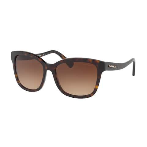 Coach Women's HC8219 512013 56 Brown Gradient Plastic Square Sunglasses