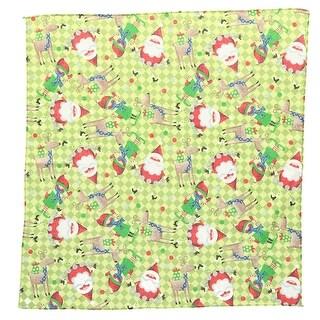 CTM® Santa and Elf Print Holiday Bandana - One size