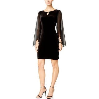 Connected Apparel Womens Babydoll Dress Velvet Illusion