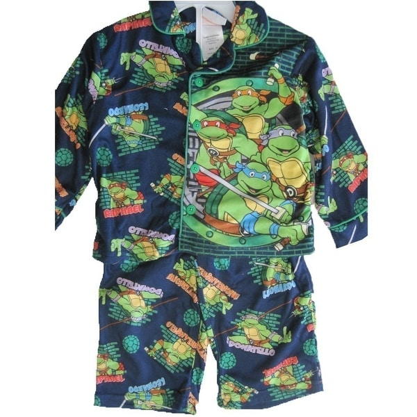 bc6b41ba38 Shop Nickelodeon Little Boys Navy Teenage Mutant Ninja Turtles 2 Pc Pajama  Set 2T-4T - Free Shipping On Orders Over  45 - Overstock.com - 18164524