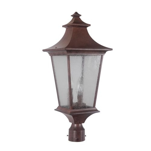 Jeremiah Lighting Z1375 3 Light Ambient Light Outdoor Post Light from the Argent II Collection - Aged Bronze
