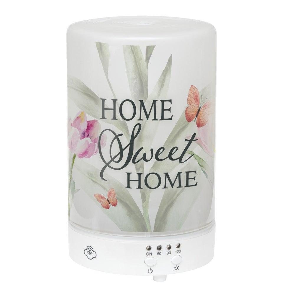"5.75"" LED Floral Butterfly ""Home Sweet Home"" Essential Oil Diffuser"