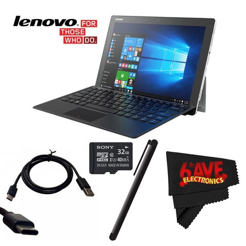 """Lenovo 12.2"""" Miix 510 Multi-Touch 2-in-1 Notebook #80XE00H3US + Mini USB Data Cable - SKN6371 + 32GB Sony Micro Bundle"""