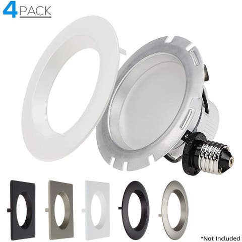 10W 4 Inch Recessed LED Downlight, 5000K, ETL-listed - 4 Pack