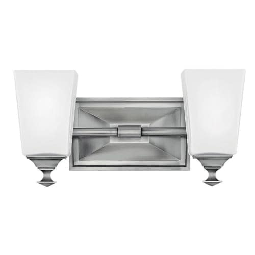 "Hinkley Lighting 56672 Baldwin 2 Light 13-3/4"" Wide Bathroom Vanity Light with Frosted Glass"