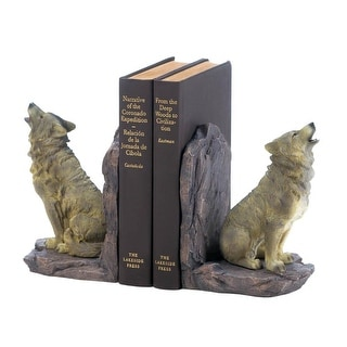 Ancient Howling Wolf Bookends