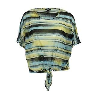 Alfani Women's Striped Tie-Front Blouse