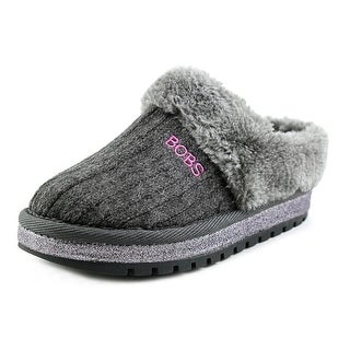 Lil' Bobs by Skechers Keepsakes-Sweater Softies Youth Gray Clogs